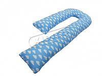 *Подушка для беременных KIDIGO J - образная Тучки (с наволочкой)