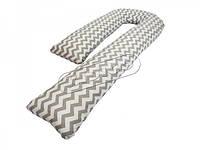 *Подушка для беременных KIDIGO J - образная Зигзаги (с наволочкой)