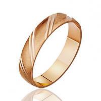 Золотое обручальное кольцо с алмазной гранью 585, красный, 2.95, 49912, 17.5