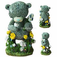 Тедди на цветочной поляне 3D