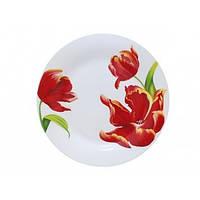 """Тарілка керам. """"Червоний тюльпан """"9' №3081-21(12)(24)"""