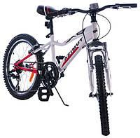 Детский горный велосипед 20 дюймов Azimut Knight G-1 (оборудование SHIMANO) красно-белый***