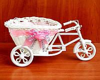 Велосипед  для цветов розовый