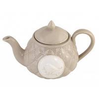 """Чайник керам. 0,8л """"Пташка"""" бежевий №545-120(16)"""