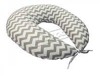 *Подушка для кормления KIDIGO Зигзаг (с наволочкой)