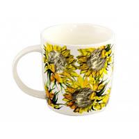 Чашка фарфорова 320мл Чудові квіти кругла деколь mix (Галерея) 0057 (12) (48)
