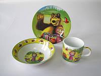 "Набор детский Vitol ""Маша и медведь"" 222  (3 предмета)"