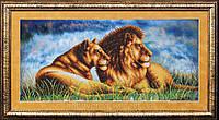 """Набор для вышивания бисером """"Львы"""", фото 1"""
