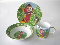 "Набор детский Vitol ""Маша и медведь"" 225  (3 предмета)"