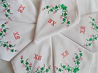 Набор пасхальных сервировочных салфеток из хлопка с вышивкой ручной работы  6 шт.
