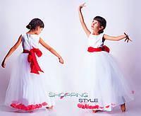 Детское выпускное платье Красная лента