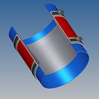 Тканевый компенсатор тип КТ 1,01 ленточный без волны
