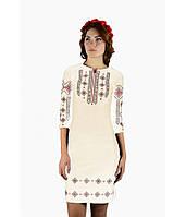 Біле жіноче плаття з вишивкою Ромби 2ffe8775602f0