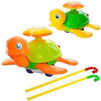 Игрушка каталка на палке Черепаха 0361