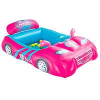 Детский надувной игровой центр Машинка Barbie 93207 Bestway, 135х99 см