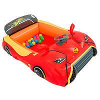 Детский надувной игровой центр машинка HotWheels 93404 Bestway, 135х99х43 см