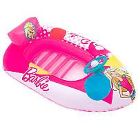 Плотик детский надувной в форме машинки  Barbie 93204 Bestway, 114х71 см