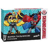 Краски пальчиковые «Transformers» TF17-064 Kite, 6 цветов