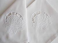 """Набор сервировочных салфеток из хлопка с вышивкой ручной работы 6 шт. """"Роза ришелье"""""""