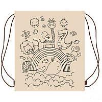 Детский эко Рюкзак - раскраска для вещей «Радуга и звери» УкрОселя