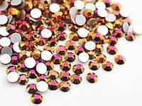 Стразы стекло розовое золото, для дизайна ногтей, аналог Сваровски, SS5