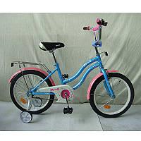 """Детский двухколесный велосипед L1894 Star Profi, 18"""" голубой"""