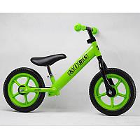 Детский беговел M 3440-4 Profi kids, 12 дюймов зеленый