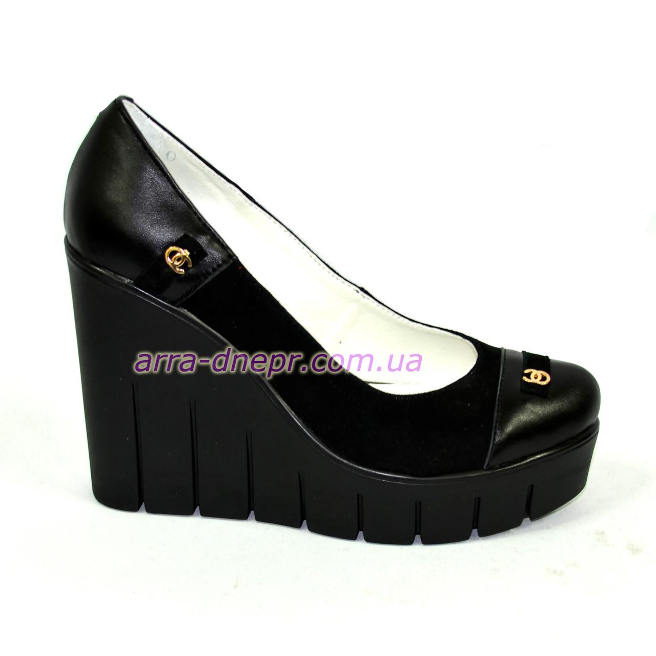 bab8c8d64015 Женские туфли на устойчивой высокой платформе, натуральная кожа и замша, ...