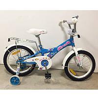 """Детский двухколесный велосипед Original girl G1864 Profi, 18"""" голубой"""