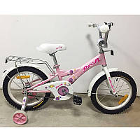 """Детский двухколесный велосипед Original girl G1661 Profi, 16"""" розовый"""