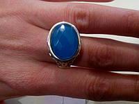 Великолепное кольцо с камнем халцедон в серебре. Кольцо с халцедоном.