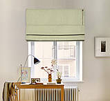 Римские шторы модель Соло ткань Блэкаут с рисунком, фото 2
