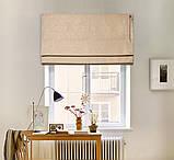 Римские шторы модель Соло ткань Блэкаут с рисунком, фото 3