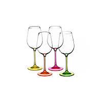 Фужеры для вина Neon 350мл 4шт Чехия