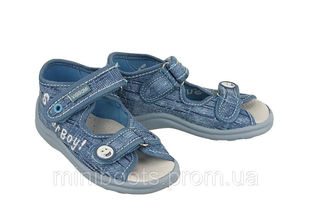 """Тапочки текстильные VIGGAMI KARO jeans (21-27) - Интернет-магазин  """"Мега-бадабум"""" в Днепре"""