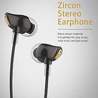 Наушники - гарнитура Rock Zircon Stereo Earphone проводные с микрофоном