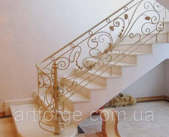 Кованые перила для лестницы в стиле Модерн