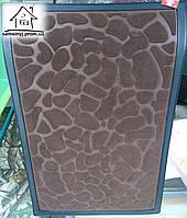 Тканевый коврик Велюр Камни 90*60 см (коричневый)