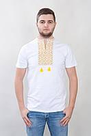 Мужская вышитая сорочка белого цвета