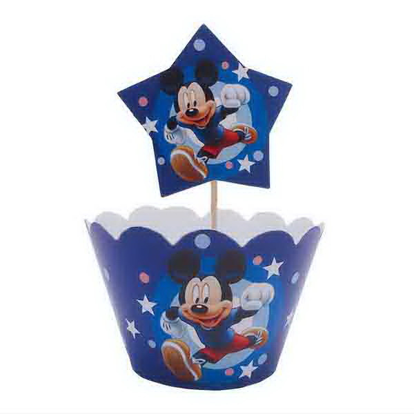 """Топперы для капкейков """"Mickey Mouse"""". В упак: 10шт."""