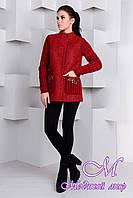 Короткое женское весеннее пальто (р. S, M, L) арт. Карамель крупное букле 9271