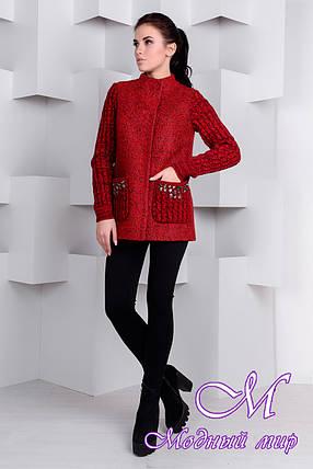 Короткое женское весеннее пальто (р. S, M, L) арт. Карамель крупное букле 9271, фото 2