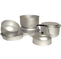 Набор посуды с горелкой (9 предметов)