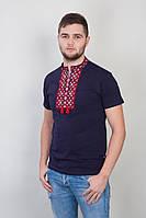 Мужская футболка с вышивкой красного цвета
