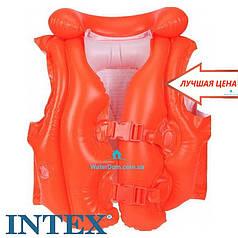 """Надувной жилет """"Люкс"""" Intex 58671 3-6 лет"""