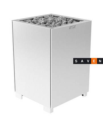 Электрическая печь (каменка)  Harvia Modulo MDS180 steel (закрытые боковые части) для сауны и бани, фото 2