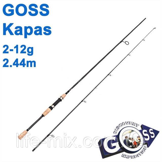 Спиннинговое удилище Goss Kapas A04-244 2-12g 2,44м