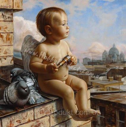 """Раскраска по номерам """"Ангел и голуби"""", фото 2"""