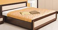 Кровать большая двухспальная Клео 2 сп (SM), макасар/светлый венге, мебель для спальни 1685*705*2120