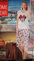 Молодежная женская пижама с капрями